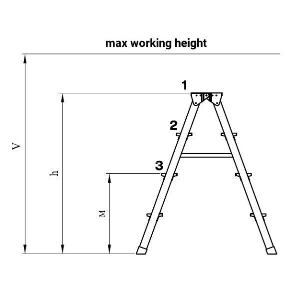 Két oldalon járható alu létra 2x6