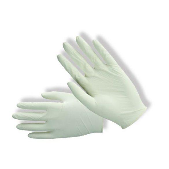 Fehér latex púderes orvosi kesztyű (több méretben S-XL)
