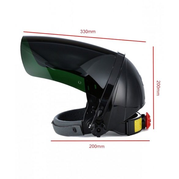 Arcvédő plexi pajzs, zöld plexivel