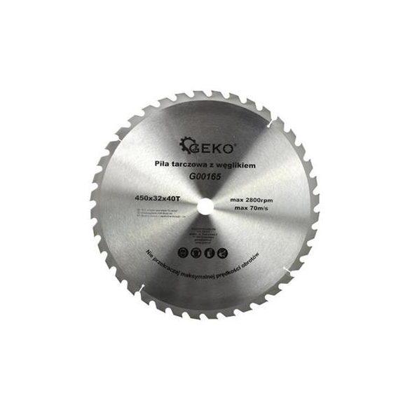 Körfűrésztárcsa Geko vídiás  450x32x40 fog