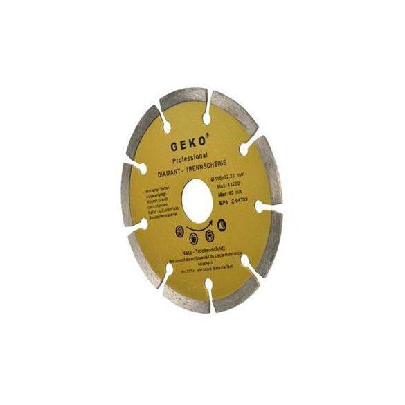Gyémánt vágótárcsa 115x8x22,2mm szegmentált PROFI