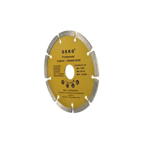 Gyémánt vágótárcsa 125x8x22,2mm szegmentált PROFI