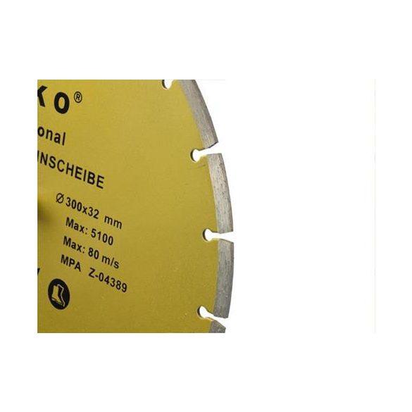 Gyémánt vágótárcsa 300x8x32mm szegmentált PROFI