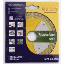 Gyémánt vágótárcsa turbo PROFI (több méretben 115-350mm)