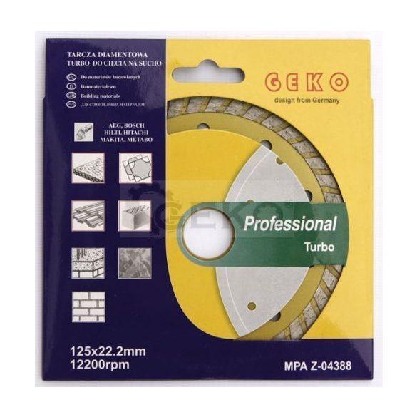 Gyémánt vágótárcsa 125x8x22,2mm turbo PROFI