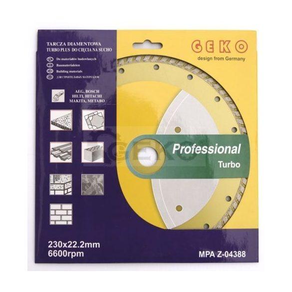 Gyémánt vágótárcsa 230x8x22,2mm turbo PROFI