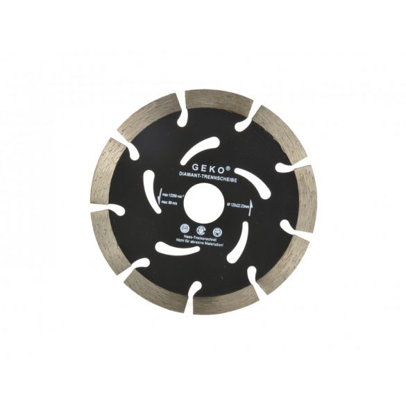 Gyémánt vágótárcsa fekete 125x10x22,2mm