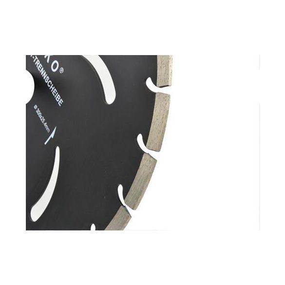 Gyémánt vágótárcsa fekete 300x10x25,4mm