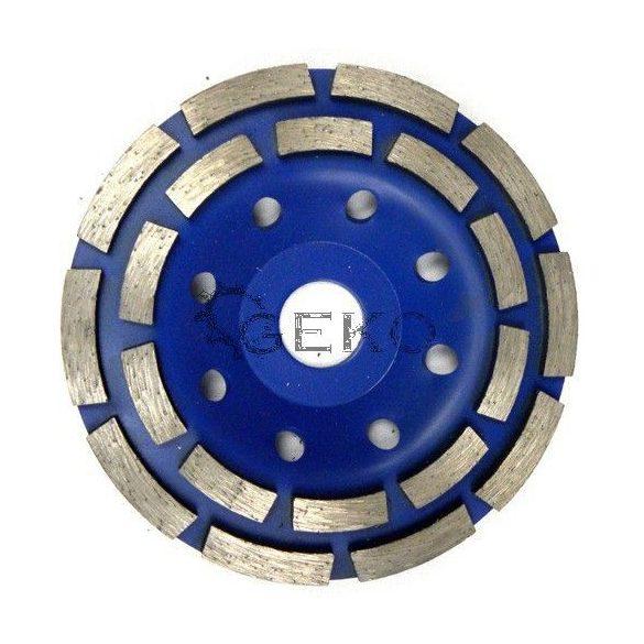 Duplasoros gyémánt betoncsiszoló 125mm/ 22,2mm
