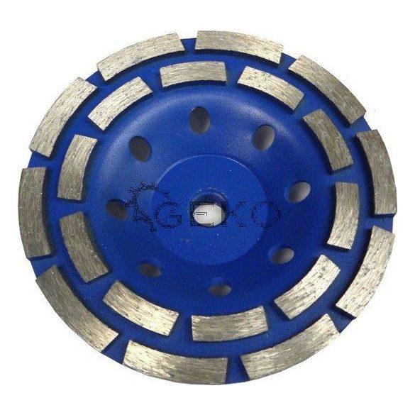 Duplasoros gyémánt betoncsiszoló 125mm/ M14