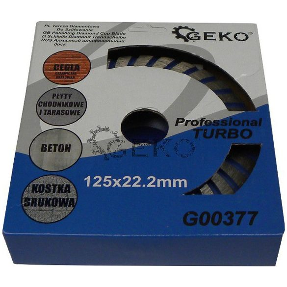 Gyémánt betoncsiszoló Turbo 125mm/ 22,2mm