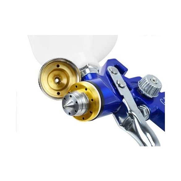 Festékszóró pisztoly HVLP 600ml / 1,4mm Kerékfújó órával Festékszóró pisztoly mini