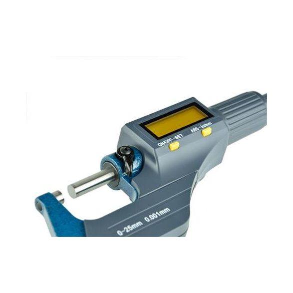 Mikrométer digitális kijelzővel 0-25mm