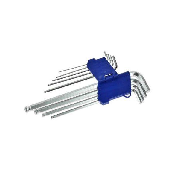 Imbuszkulcs készlet, gömbvégű hosszú, 1,5-10/230mm, 9r.