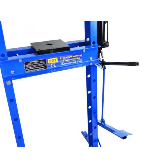 Hidraulikus prés nyomásmérővel 20T (lábpedálos)