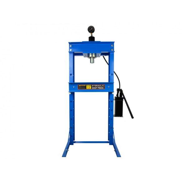 Hidraulikus prés 30T nyomásmérővel és kétfokozatú szivattyúval