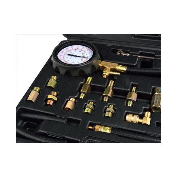 Üzemanyag nyomásmérő készlet benzinmotorokhoz