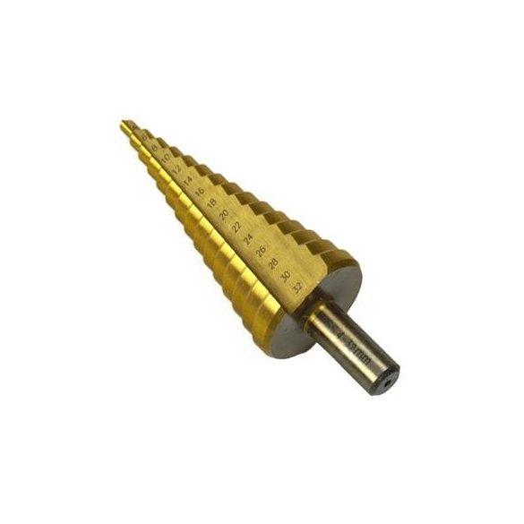 Lépcsős lemezfúró 4-32mm, TIN bevonat