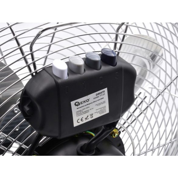 Padló ventilátor 40cm INOX/acél, 85W