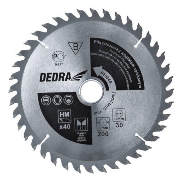 Körfűrésztárcsa Dedra vídiás 160x12,75x36 fog