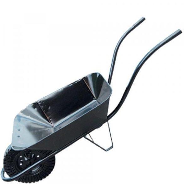 Talicska fekete tömör kerékkel 60L-es puttonnyal