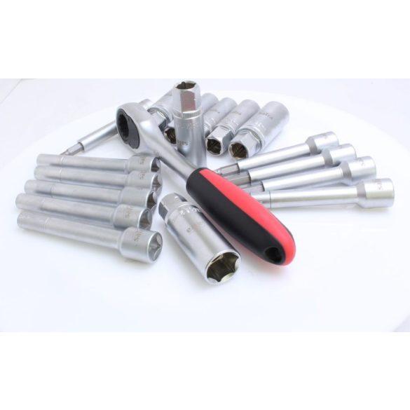 Lengéscsillapító szerelő dugókulcs készlet 18 részes